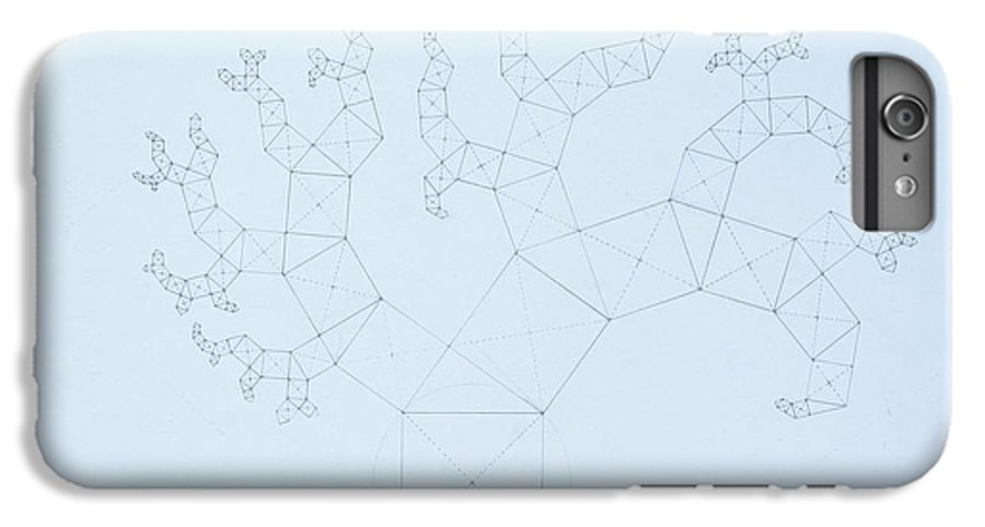 Fractal Tree IPhone 6s Plus Case featuring the drawing Quantum Tree by Jason Padgett