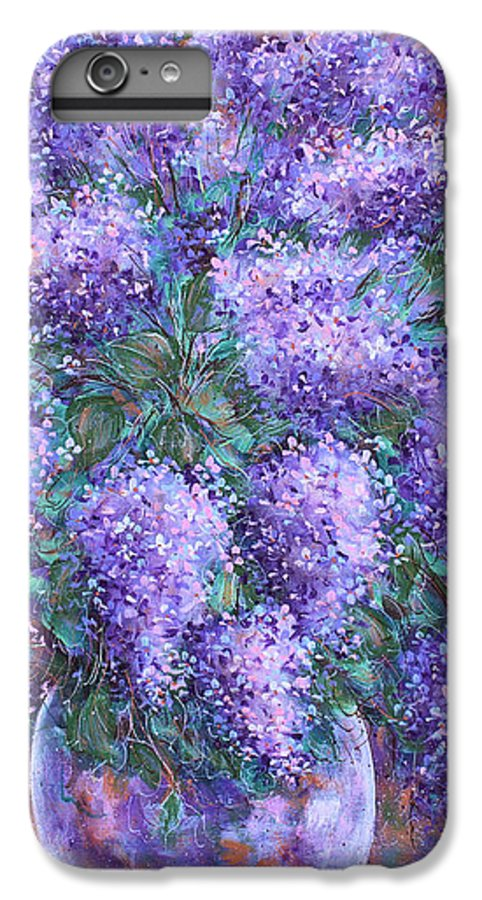 Flowers IPhone 6s Plus Case featuring the painting Scented Lilacs Bouquet by Natalie Holland