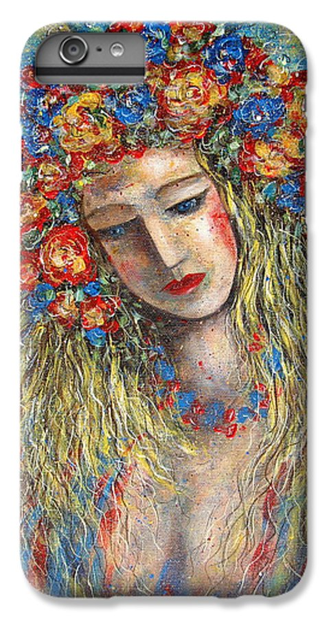 Painting IPhone 6s Plus Case featuring the painting The Loving Angel by Natalie Holland