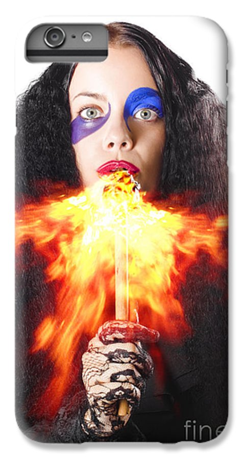 Act IPhone 6s Plus Case featuring the photograph Woman Breathing Fire From Mouth by Jorgo Photography - Wall Art Gallery