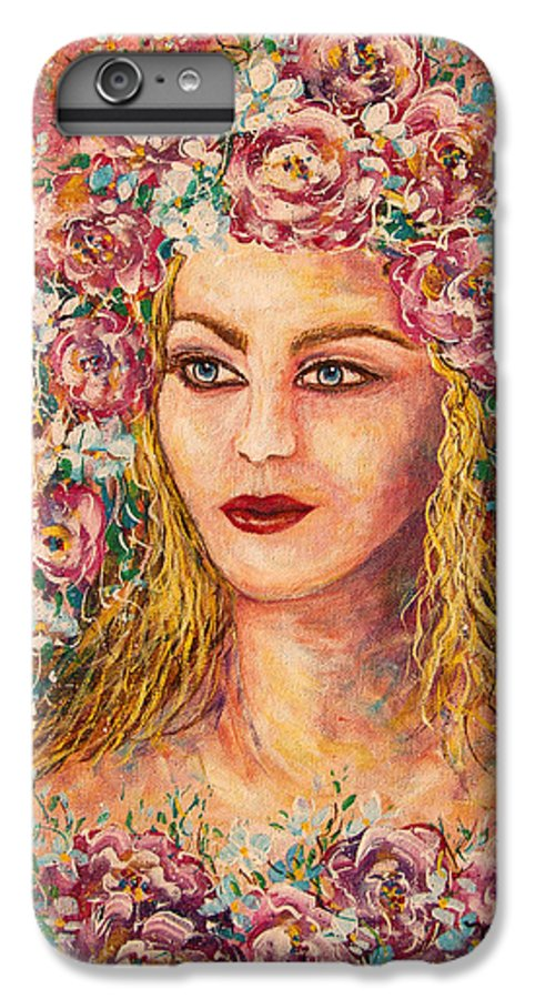 Goddess IPhone 6s Plus Case featuring the painting Good Fortune Goddess by Natalie Holland