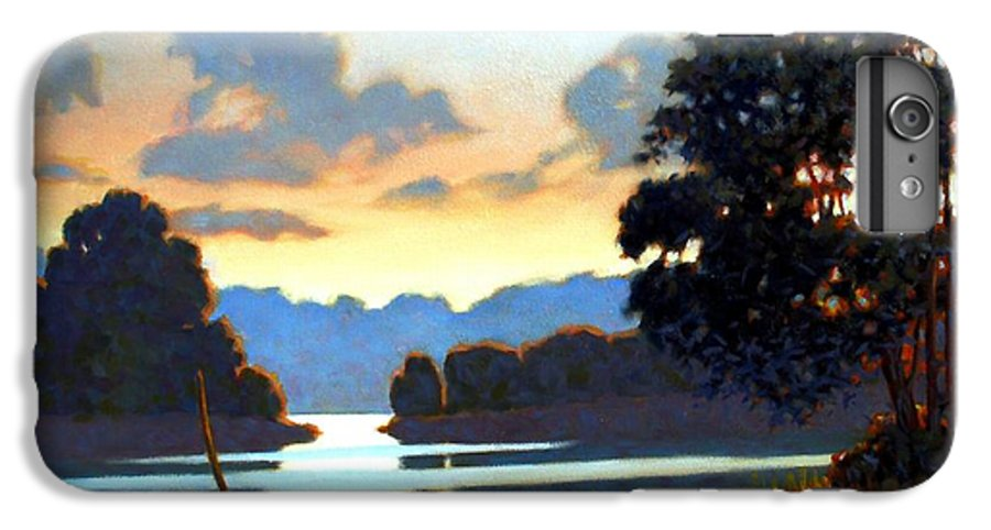 Landscape IPhone 6s Plus Case featuring the painting Grassy Point by Kevin Lawrence Leveque