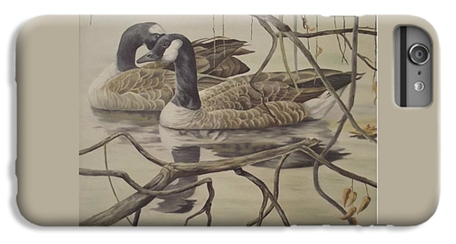Water IPhone 6s Plus Case featuring the painting A Pair Of Ducks by Wanda Dansereau