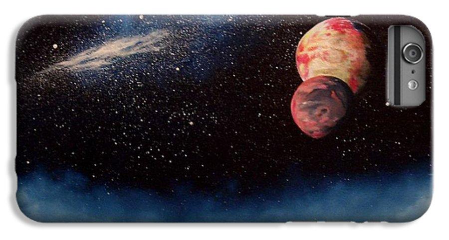 Landscape IPhone 6s Plus Case featuring the painting Above Alien Clouds by Murphy Elliott