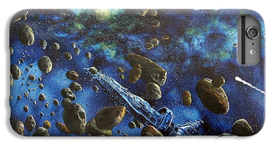 Astro IPhone 6s Plus Case featuring the painting Accidental Asteroid by Murphy Elliott