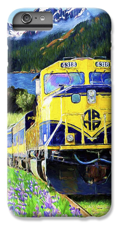 Railroad IPhone 6s Plus Case featuring the painting Alaska Railroad by David Wagner