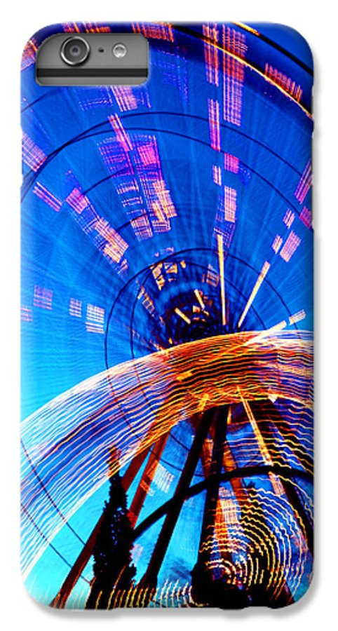 Amusement Park IPhone 6s Plus Case featuring the photograph Amusement Park Rides 1 by Steve Ohlsen