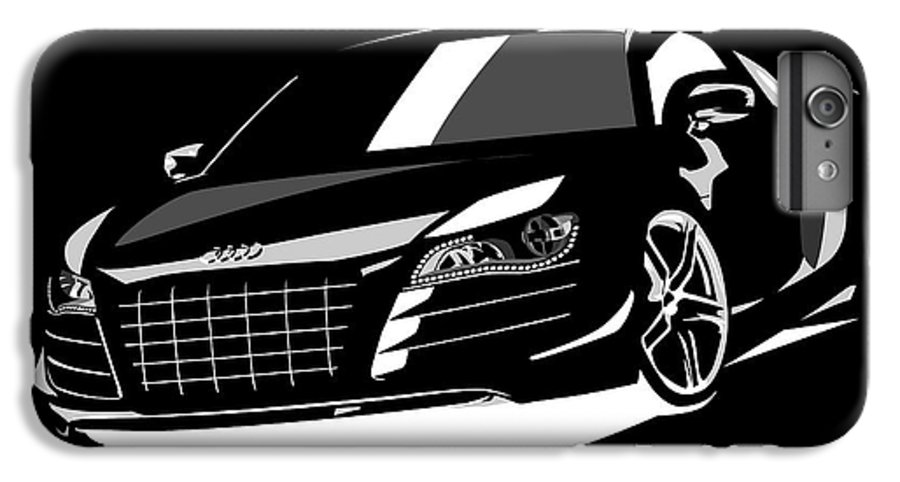 Audi R8 IPhone 6s Plus Case featuring the digital art Audi R8 by Michael Tompsett