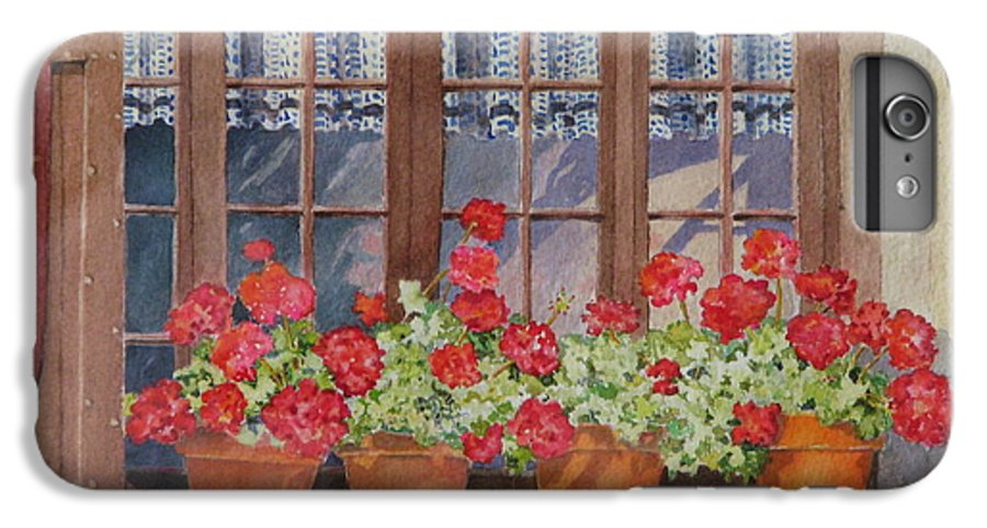 Watercolor IPhone 6s Plus Case featuring the painting August At The Auberge by Mary Ellen Mueller Legault