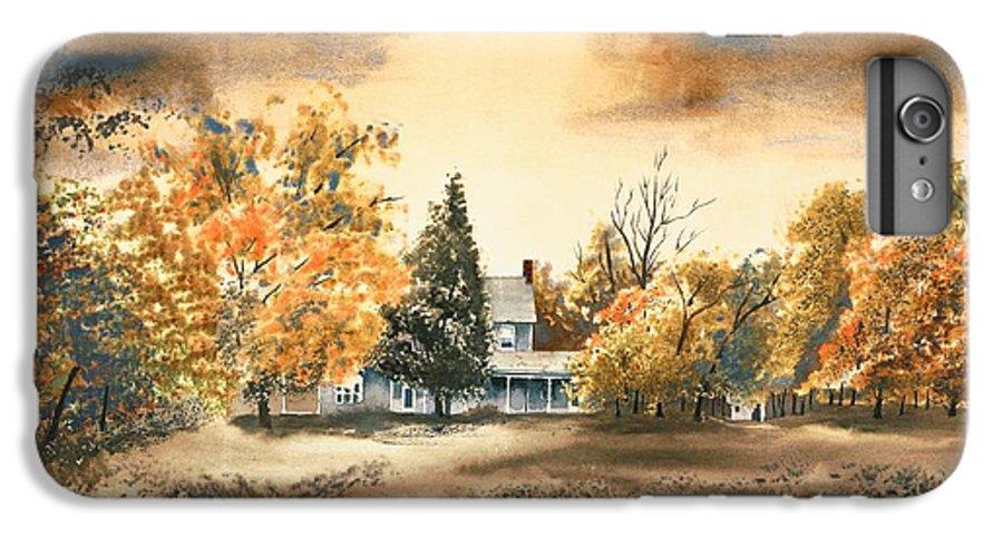 Autumn Sky No W103 IPhone 6s Plus Case featuring the painting Autumn Sky No W103 by Kip DeVore