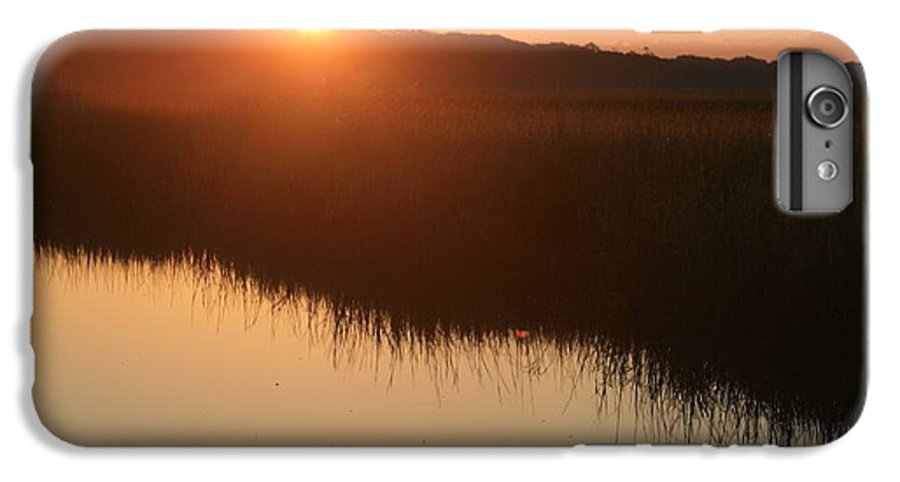 Sunrise IPhone 6s Plus Case featuring the photograph Autumn Sunrise Over The Marsh by Nadine Rippelmeyer
