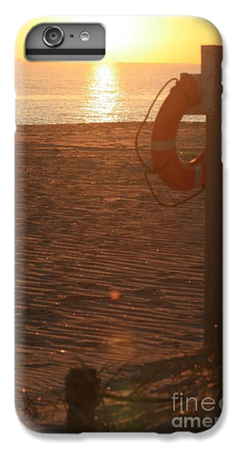 Beach IPhone 6s Plus Case featuring the photograph Beach At Sunset by Nadine Rippelmeyer