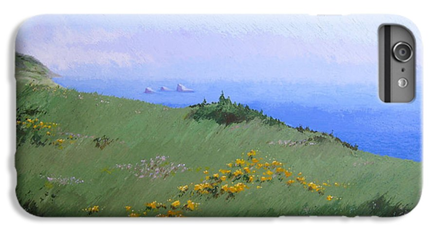 Landscape IPhone 6s Plus Case featuring the painting Big Sur by Hunter Jay