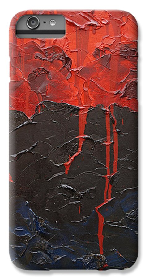 Fantasy IPhone 6s Plus Case featuring the painting Bleeding Sky by Sergey Bezhinets