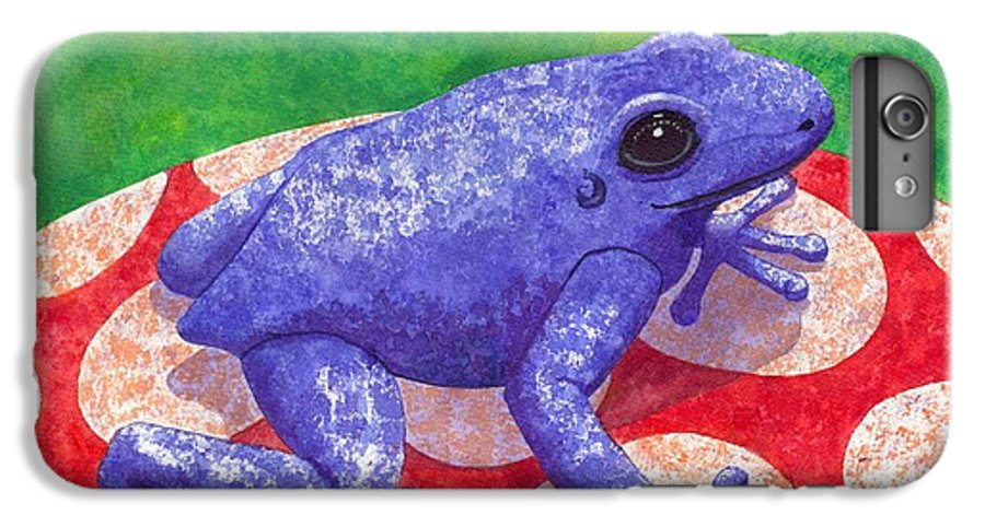 Frog IPhone 6s Plus Case featuring the painting Blue Frog by Catherine G McElroy
