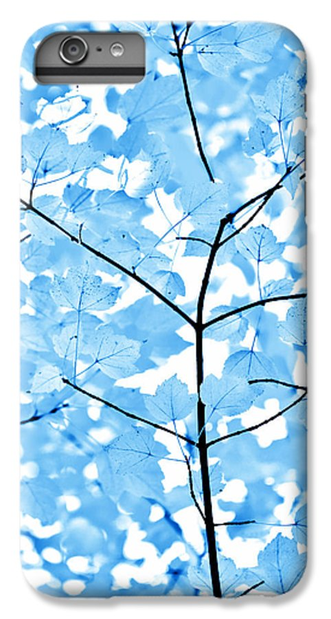 Leaf IPhone 6s Plus Case featuring the photograph Blue Leaves Melody by Jennie Marie Schell