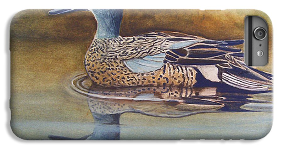 Rick Huotari IPhone 6s Plus Case featuring the painting Blue Winged Teal by Rick Huotari