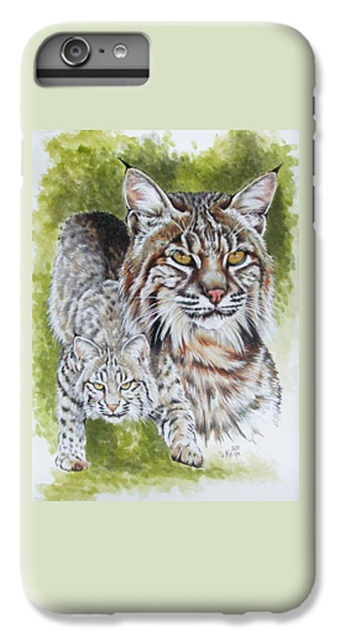 Small Cat IPhone 6s Plus Case featuring the mixed media Brassy by Barbara Keith