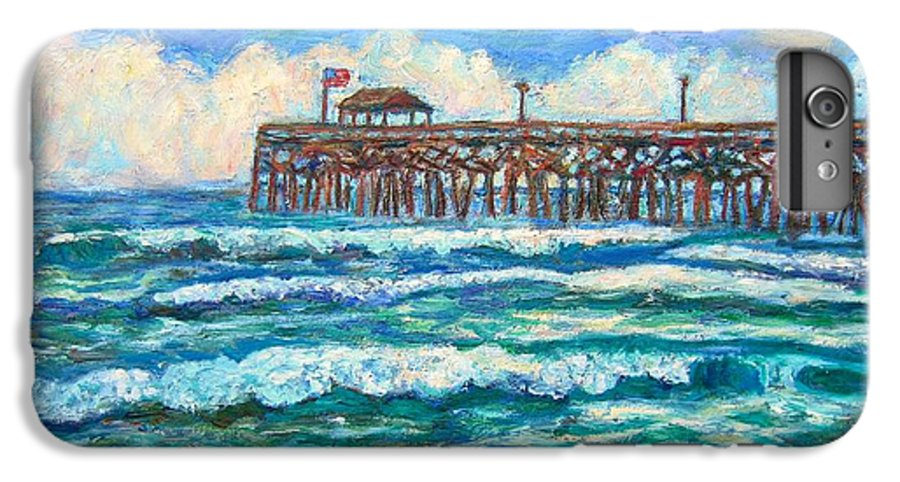 Shore Scenes IPhone 6s Plus Case featuring the painting Breakers At Pawleys Island by Kendall Kessler