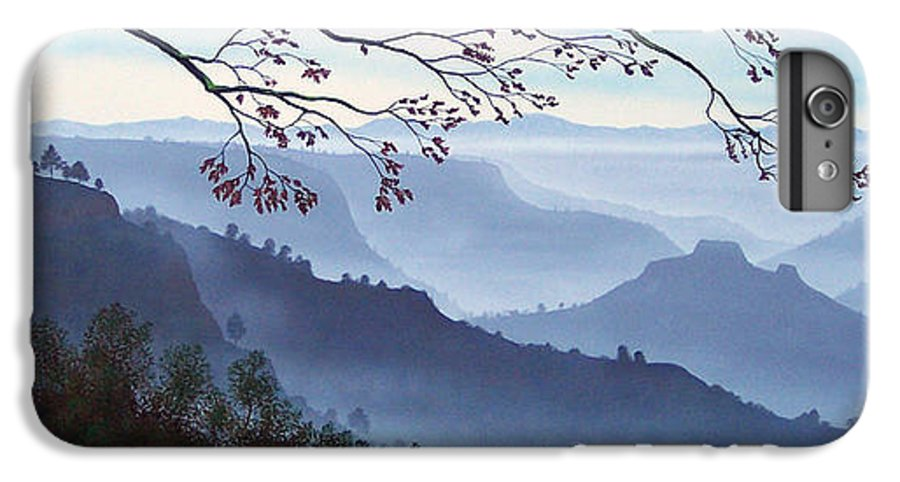 Mural IPhone 6s Plus Case featuring the painting Butte Creek Canyon Mural by Frank Wilson