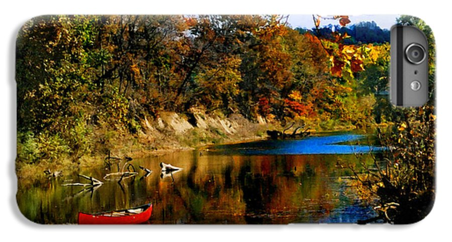 Autumn IPhone 6s Plus Case featuring the photograph Canoe On The Gasconade River by Steve Karol