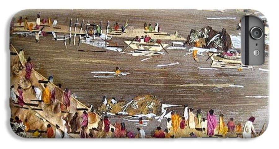 Festval IPhone 6s Plus Case featuring the mixed media Carnival At River by Basant Soni