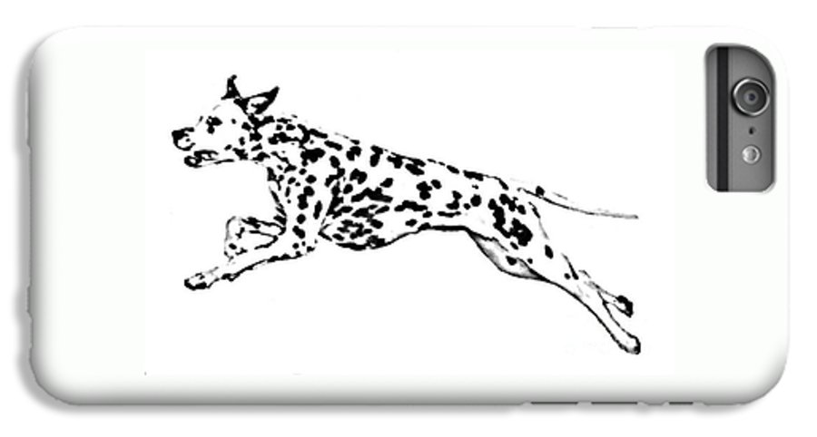 Dogs IPhone 6s Plus Case featuring the drawing Celebrate by Jacki McGovern