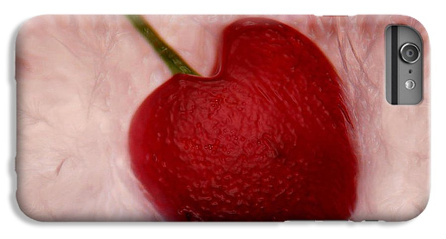 Heart Artred Cherry Heart IPhone 6s Plus Case featuring the photograph Cherry Heart by Linda Sannuti
