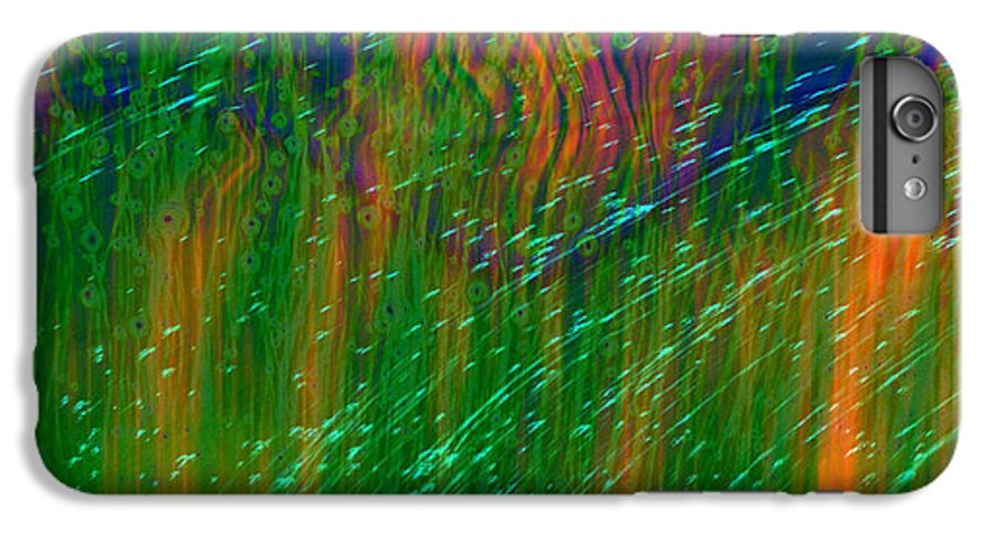 Abstract IPhone 6s Plus Case featuring the digital art Colors Of Grass by Linda Sannuti
