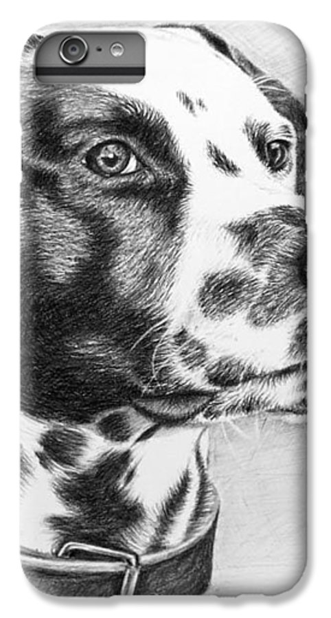 Dog IPhone 6s Plus Case featuring the drawing Dalmatian Portrait by Nicole Zeug