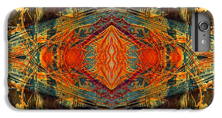 Surrealism IPhone 6s Plus Case featuring the digital art Decalcomaniac Intersection 2 by Otto Rapp