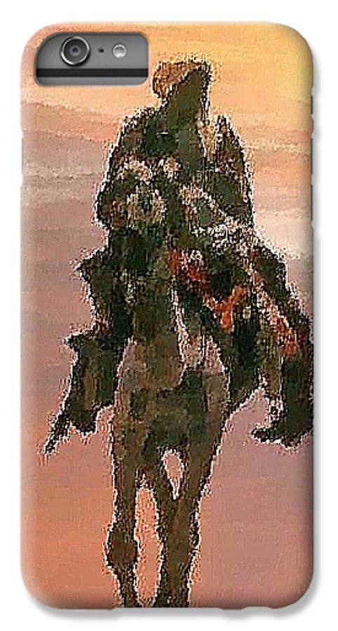 Landscape.desert.dusty Sun.camel.bedouin.sand.dusty.hot.dry.shadow. IPhone 6s Plus Case featuring the digital art Desert. Bedouin. by Dr Loifer Vladimir