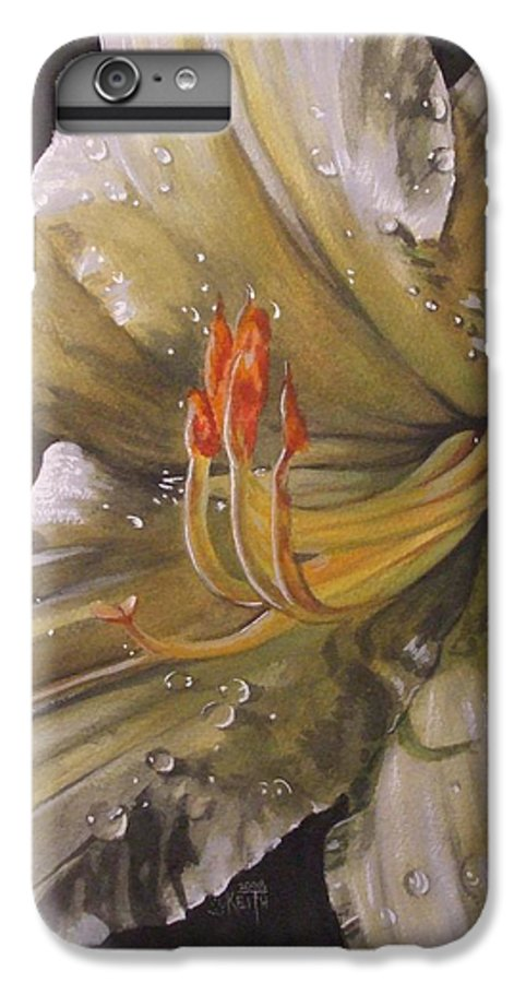 Daylily IPhone 6s Plus Case featuring the painting Diamonds by Barbara Keith