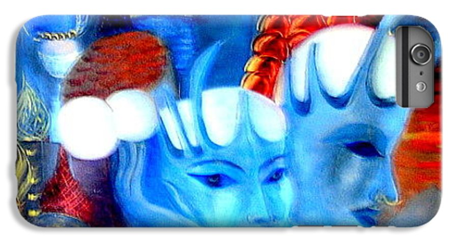 Surrealism IPhone 6s Plus Case featuring the painting Dreams Of Russia by Pilar Martinez-Byrne