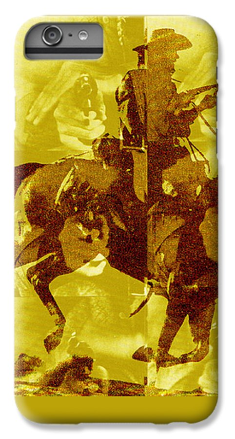 Clint Eastwood IPhone 6s Plus Case featuring the digital art Duel In The Saddle 1 by Seth Weaver