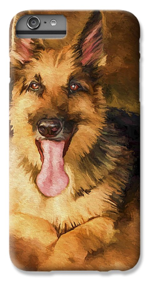 German Shepherd IPhone 6s Plus Case featuring the painting Duke by David Wagner