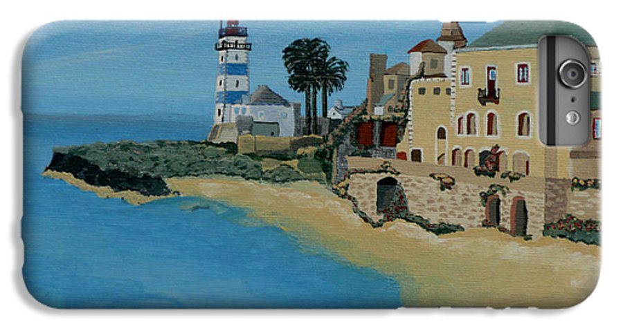 Lighthouse IPhone 6s Plus Case featuring the painting European Lighthouse by Anthony Dunphy