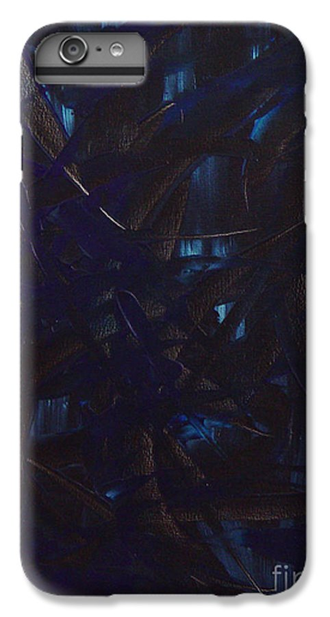 Abstract IPhone 6s Plus Case featuring the painting Expectations Blue by Dean Triolo