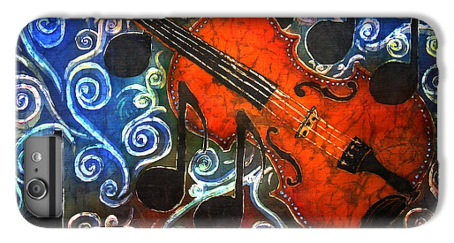 Fiddle IPhone 6s Plus Case featuring the painting Fiddle - Violin by Sue Duda