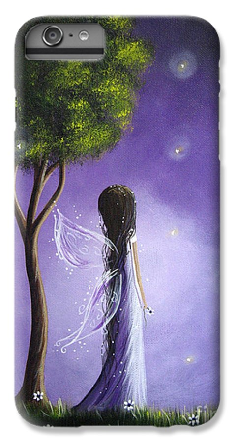 Fairy Art IPhone 6s Plus Case featuring the painting Original Fairy Art By Shawna Erback by Erback Art