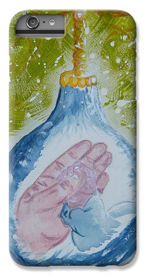 Christmas IPhone 6s Plus Case featuring the painting First Christmas II by Margaret G Calenda