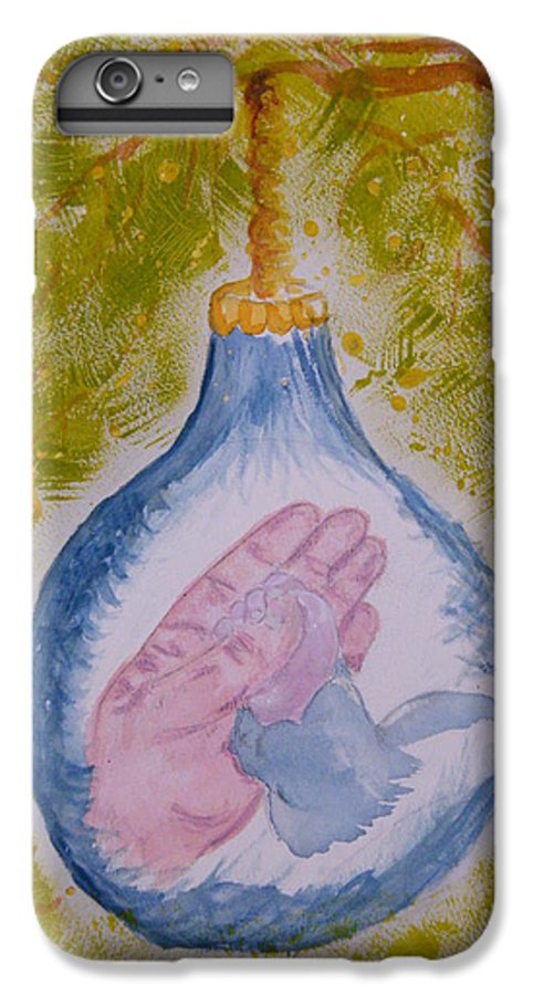 Christmas IPhone 6s Plus Case featuring the painting First Christmas by Margaret G Calenda