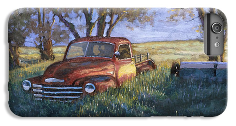 Pickup Truck IPhone 6s Plus Case featuring the painting Forgotten But Still Good by Jerry McElroy