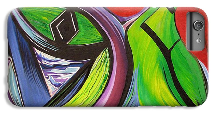 Abstract IPhone 6s Plus Case featuring the painting Friday by Aimee Vance