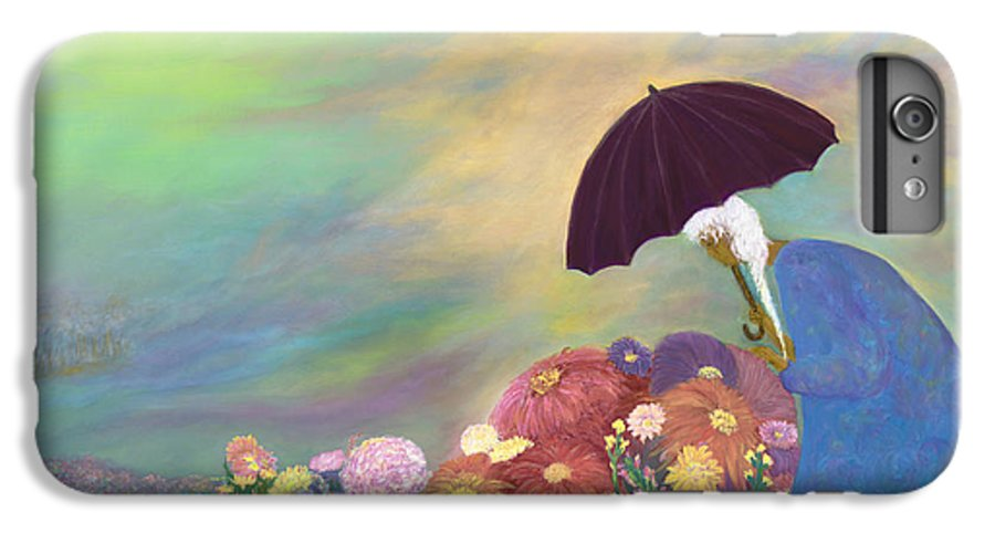 African American IPhone 6s Plus Case featuring the painting Furious Flowers by F Geoffrey Johnson