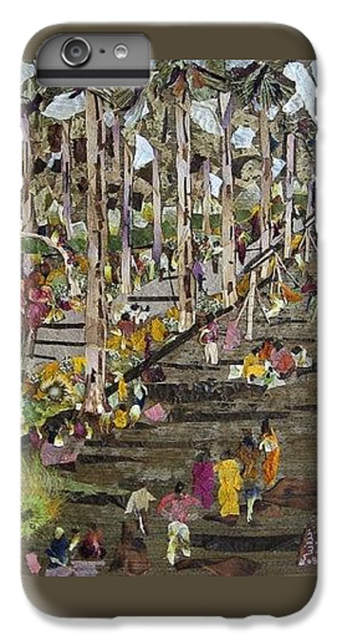 Garden Morning View IPhone 6s Plus Case featuring the mixed media Garden Picnic by Basant Soni