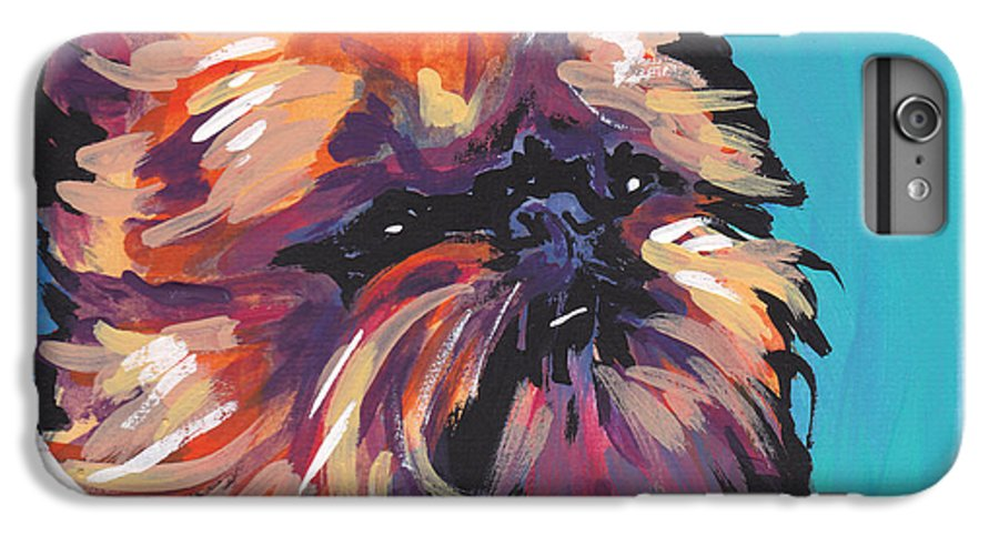 Brussel Griffon IPhone 6s Plus Case featuring the painting Go Griff by Lea S