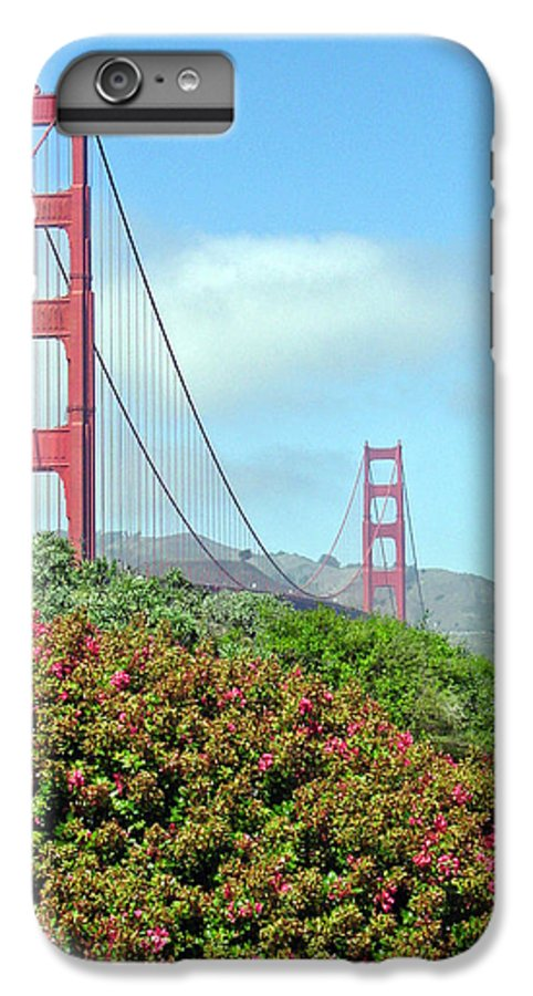Golden Gate Bridge IPhone 6s Plus Case featuring the photograph Golden Gate by Suzanne Gaff