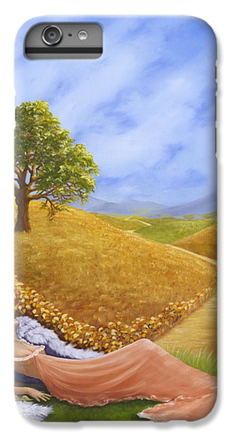 Angel IPhone 6s Plus Case featuring the painting Heaven On Earth by Brenda Ellis Sauro