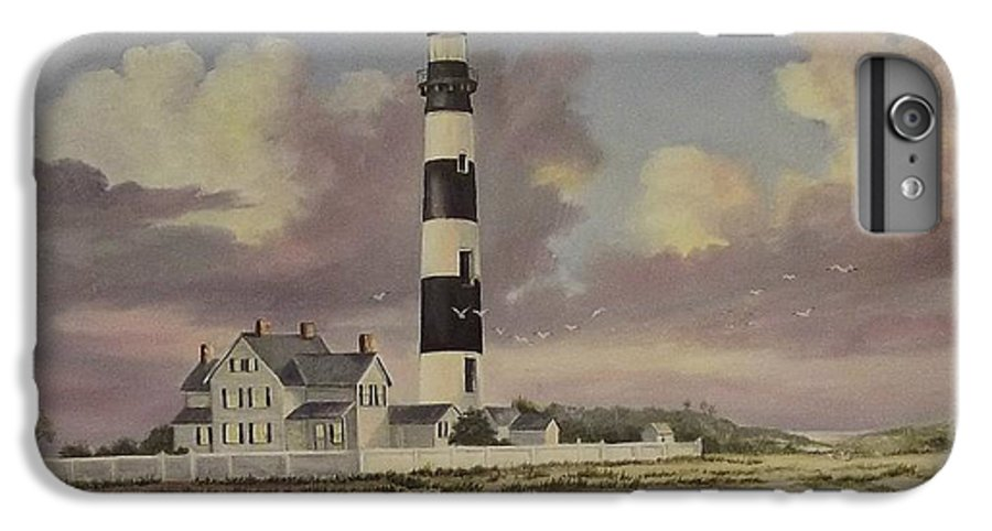 Lighthouse IPhone 6s Plus Case featuring the painting History Of Morris Lighthouse by Wanda Dansereau